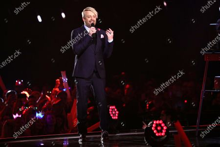 Stock Picture of Ross Antony on stage during the TV show 'Schlagerchampions 2020 - Das grosse Fest der Besten' (lit. The Big Festival of the Best) in Berlin, Germany, 11 January 2020.