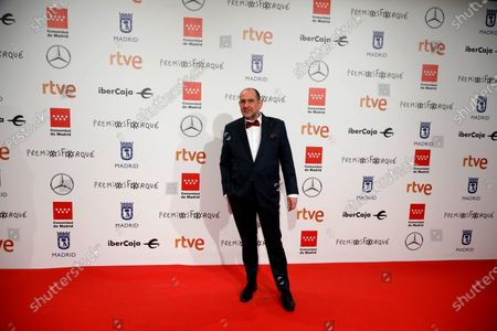 Karra Elejalde poses for the media as he attends the gala of the 25th Forque Awards held at IFEMA Convention and Exhibition Center in Madrid, Spain, 11 January 2020.