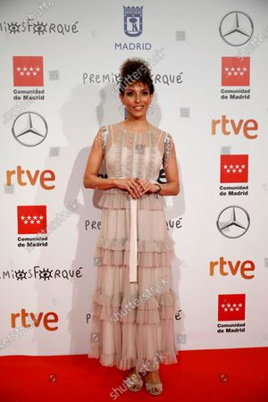 Arlette Torres poses for the media as he attends the gala of the 25th Forque Awards held at IFEMA Convention and Exhibition Center in Madrid, Spain, 11 January 2020.