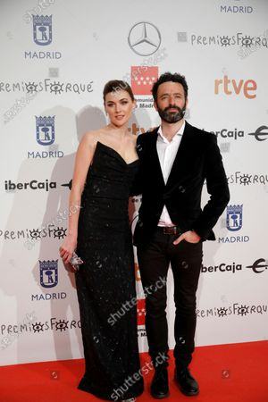Rodrigo Sorogoyen (R) and Spanish actress Marta Nieto pose for the media as they attend the gala of the 25th Forque Awards held at IFEMA Convention and Exhibition Center in Madrid, Spain, 11 January 2020.