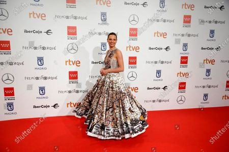 Michelle Jenner poses for the media as she attends the gala of the 25th Forque Awards held at IFEMA Convention and Exhibition Center in Madrid, Spain, 11 January 2020.