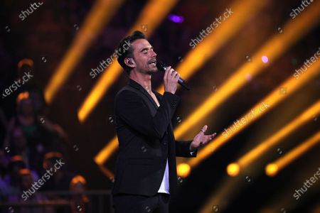 Stock Photo of Florian Silbereisen on stage during the TV show 'Schlagerchampions 2020 - Das grosse Fest der Besten' (lit. The Big Festival of the Best) in Berlin, Germany, 11 January 2020.