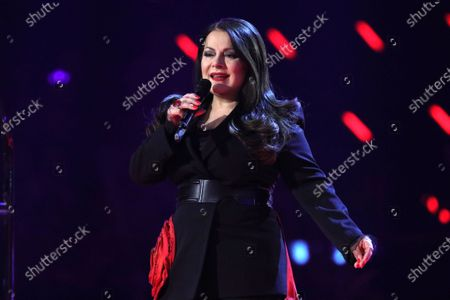 Stock Photo of Marianne Rosenberg on stage during the TV show 'Schlagerchampions 2020 - Das grosse Fest der Besten' (lit. The Big Festival of the Best) in Berlin, Germany, 11 January 2020.