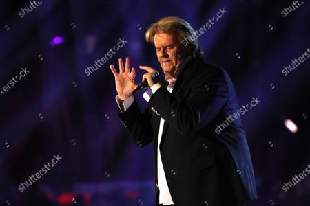 Howard Carpendale on stage during the TV show 'Schlagerchampions 2020 - Das grosse Fest der Besten' (lit. The Big Festival of the Best) in Berlin, Germany, 11 January 2020.