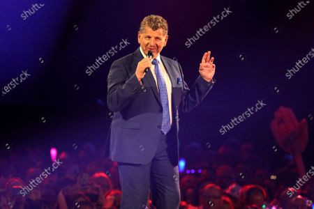 Stock Picture of Semino Rossi on stage during the TV show 'Schlagerchampions 2020 - Das grosse Fest der Besten' (lit. The Big Festival of the Best) in Berlin, Germany, 11 January 2020.