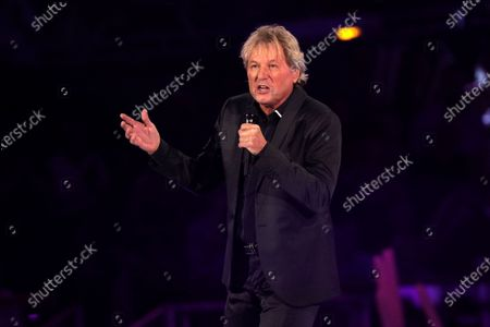 Bernhard Brink on stage during the TV show 'Schlagerchampions 2020 - Das grosse Fest der Besten' (lit. The Big Festival of the Best) in Berlin, Germany, 11 January 2020.