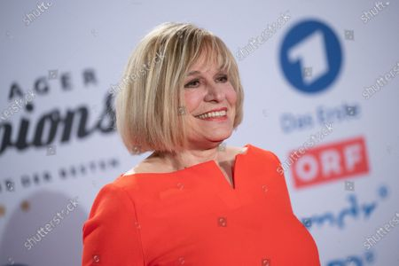 Stock Photo of Mary Roos poses on the red carpet before the TV show 'Schlagerchampions 2020 - Das grosse Fest der Besten' (lit. The Big Festival of the Best) in Berlin, Germany, 11 January 2020.