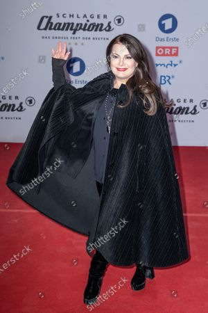 Stock Image of Marianne Rosenberg poses on the red carpet before the TV show 'Schlagerchampions 2020 - Das grosse Fest der Besten' (lit. The Big Festival of the Best) in Berlin, Germany, 11 January 2020.