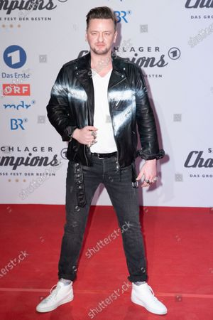 Stock Picture of Ben Zucker poses on the red carpet before the TV show 'Schlagerchampions 2020 - Das grosse Fest der Besten' (lit. The Big Festival of the Best) in Berlin, Germany, 11 January 2020.