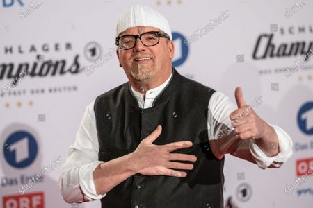 DJ Oetzi poses on the red carpet before the TV show 'Schlagerchampions 2020 - Das grosse Fest der Besten' (lit. The Big Festival of the Best) in Berlin, Germany, 11 January 2020.