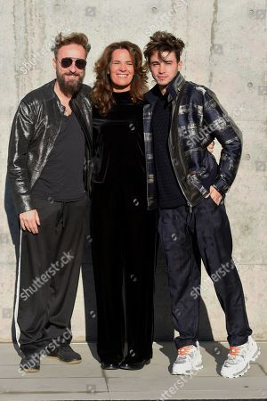 Roberta Armani with Riccardo Marcuzzo (Riki) and Francesco Facchinetti