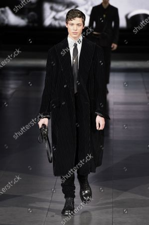 Editorial picture of Dolce & Gabbana show, Runway, Autumn Winter 2020, Milan Fashion Week Men's, Italy - 11 Jan 2020