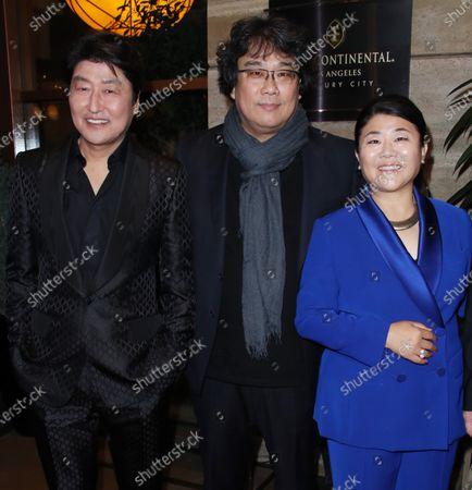 Kang-Ho Song, Lee Jung-eun and Bong Joon-Ho
