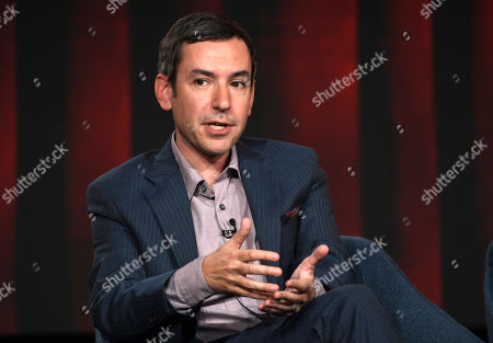 """Andy Greenwald, the executive producer/showrunner of the USA Network series """"Briarpatch,"""" discusses the show at the 2020 NBCUniversal Television Critics Association Winter Press Tour, Saturday, Jan.11, 2020, in Pasadena, Calif"""