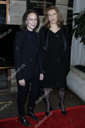 Celine Sciamma (L) and French cinematographer Claire Mathon (R) arrive for the Los Angeles Film Critics Awards at the InterContinental Hotel in Century City, California, USA, 11 January 2020.