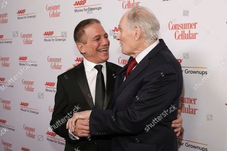 Tony Danza, Alan Alda. Tony Danza and Alan Alda attend the AARP 19th Annual Movies For Grownups Awards at the Beverly Wilshire Hotel, in Beverly Hills, Calif