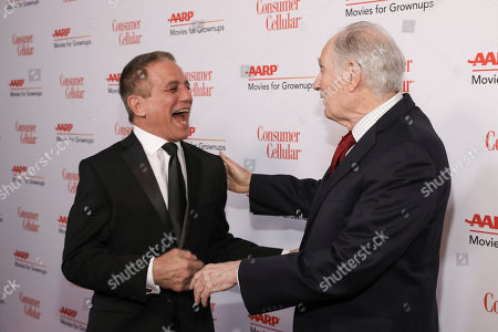Stock Image of Tony Danza, Alan Alda. Tony Danza and Alan Alda attend the AARP 19th Annual Movies For Grownups Awards at the Beverly Wilshire Hotel, in Beverly Hills, Calif