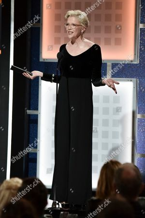 Annette Bening accepts the Career Achievement award at the 19th Annual Movies For Grownups Awards at the Beverly Wilshire Hotel, in Beverly Hills, Calif