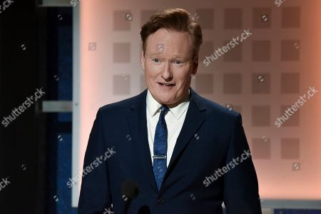 Conan O'Brien onstage at the 19th Annual Movies For Grownups Awards at the Beverly Wilshire Hotel, in Beverly Hills, Calif