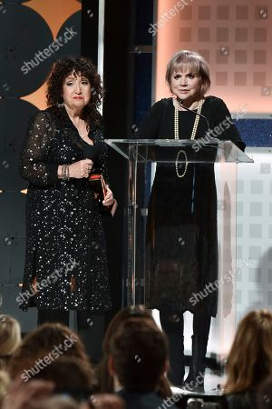 Stock Photo of Maria Muldaur, Linda Ronstadt. Maria Muldaur, left, and Linda Ronstadt onstage at the 19th Annual Movies For Grownups Awards at the Beverly Wilshire Hotel, in Beverly Hills, Calif