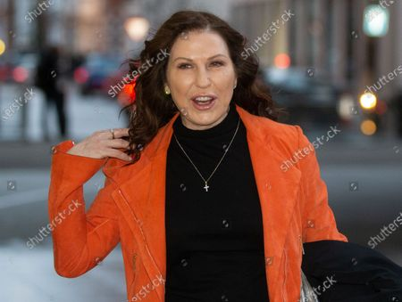 Stock Picture of Australian Journalist, Amanda Platell, arrives for the Andrew Marr Show.
