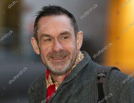 Stock Picture of Journalist, Paul Mason, arrives fat the BBC Studios.