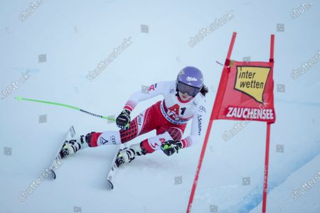 Forerunner Anna Veith of Austria in action during the Super G race for the women's Alpine Combined race of the FIS Alpine Skiing World Cup in Altenmarkt - Zauchensee, Austria, 12 January 2020.