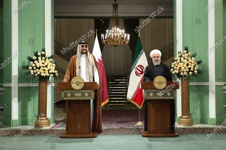 Editorial photo of Emir of Qatar Sheikh Tamim bin Hamad al-Thani visits Tehran, Iran Islamic Republic Of - 12 Jan 2020