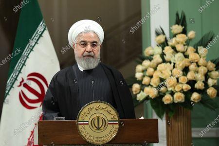 Editorial picture of Emir of Qatar Sheikh Tamim bin Hamad al-Thani visits Tehran, Iran Islamic Republic Of - 12 Jan 2020