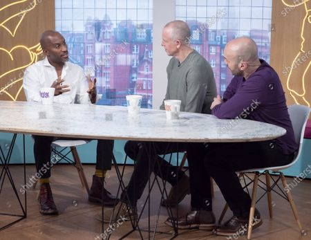 Stock Picture of Clint Dyer, Tim Lovejoy and Simon Rimmer