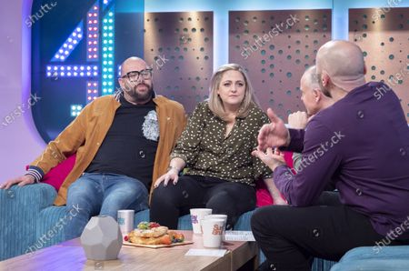 Tom Davis and Laura Checkley with Tim Lovejoy and Simon Rimmer