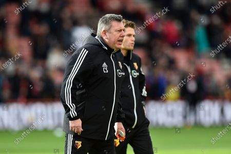 Watford assistant manager Craig Shakespeare supervising the warm up ahead the Premier League match between Bournemouth and Watford at the Vitality Stadium, Bournemouth