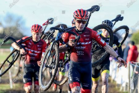 Darnell Moore of Vitus Pro Cycling at the Cycling Ireland Cyclocross National Championships in Enniscrone, Co. Sligo. The event was hosted by Ballina Cycling Club and catered for cyclists ranging from under 6 to over 60
