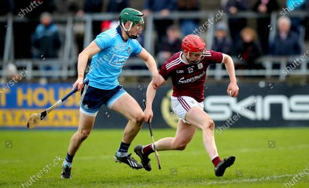 Dublin vs Galway. Dublin's James Madden and Thomas Monaghan of Galway
