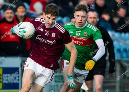 Mayo vs Galway. Mayo's Brian Walsh and Patrick Kelly of Galway