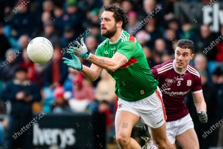 Mayo vs Galway. Mayo's Tom Parsons and Eamon Branigan of Galway