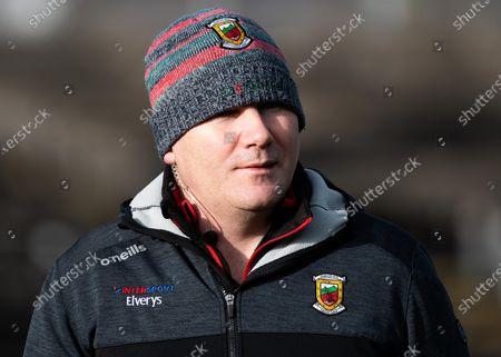 Mayo vs Galway. Mayo manager James Horan