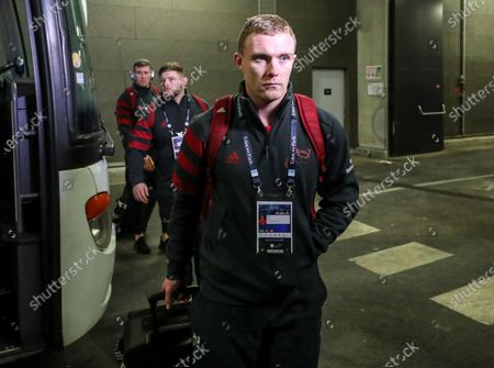 Racing 92 vs Munster. Munster's Keith Earls arrives