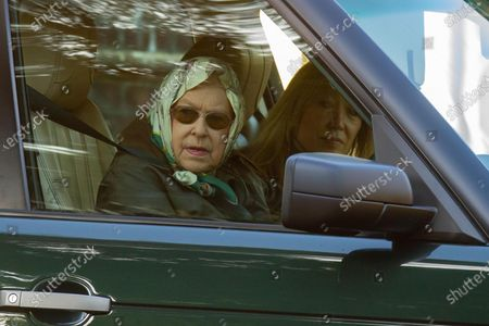 Editorial image of Queen Elizabeth II driving in Sandringham, Norfolk, UK - 11 Jan 2020