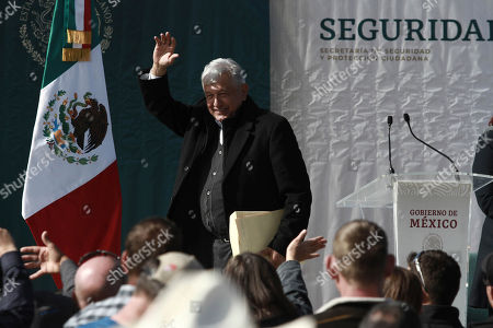 CC. Mexico's President Andres Manuel Lopez Obrador waves to residents during his visit to the small town of La Mora, Sonora state, Mexico, . Lopez Obrador said Sunday there is an agreement to establish a monument will be put up to memorialize nine U.S.-Mexican dual citizens ambushed and slain last year by drug gang assassins along a remote road near New Mexico