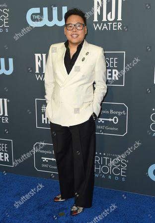 Nico Santos arrives at the 25th annual Critics' Choice Awards, at the Barker Hangar in Santa Monica, Calif