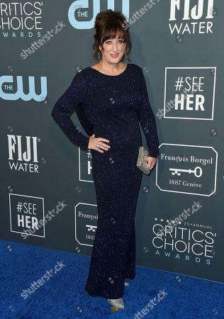 Stock Image of Beth Hall arrives at the 25th annual Critics' Choice Awards, at the Barker Hangar in Santa Monica, Calif
