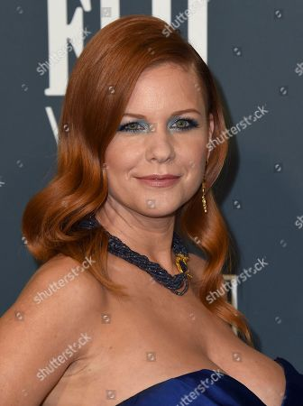 Carrie Keagan arrives at the 25th annual Critics' Choice Awards, at the Barker Hangar in Santa Monica, Calif