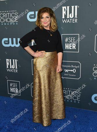 Caroline Aaron arrives at the 25th annual Critics' Choice Awards, at the Barker Hangar in Santa Monica, Calif