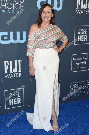 Molly Shannon arrives at the 25th annual Critics' Choice Awards, at the Barker Hangar in Santa Monica, Calif