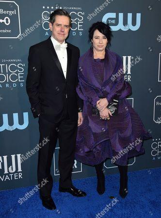 Dan Palladinoa, Amy Sherman-Palladino. Dan Palladinoa, left, and Amy Sherman-Palladino arrive at the 25th annual Critics' Choice Awards, at the Barker Hangar in Santa Monica, Calif