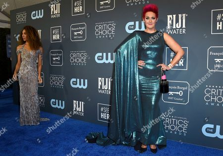 Stock Picture of Grae Drake arrives at the 25th annual Critics' Choice Awards, at the Barker Hangar in Santa Monica, Calif