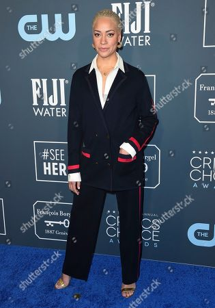 Stock Image of Cush Jumbo arrives at the 25th annual Critics' Choice Awards, at the Barker Hangar in Santa Monica, Calif