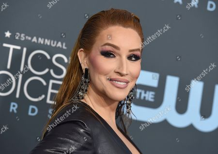 Our Lady J arrives at the 25th annual Critics' Choice Awards, at the Barker Hangar in Santa Monica, Calif