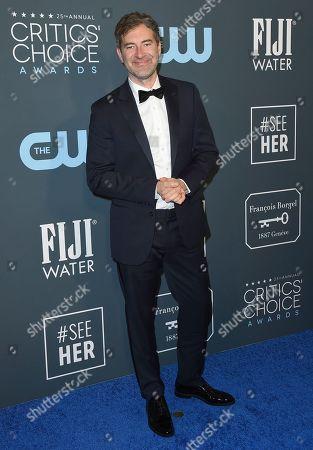 Mark Duplass arrives at the 25th annual Critics' Choice Awards, at the Barker Hangar in Santa Monica, Calif